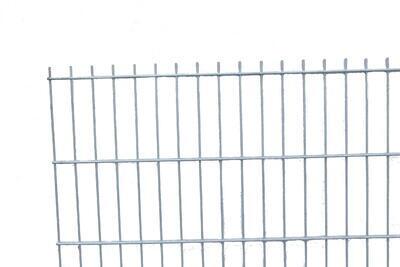 2D plotový dílec, výška 143 cm, šířka 250 cm, pozink, PREMIUM (oko 50x200 mm; drát horizontální 6 mm; drát vertikální 5 mm) - 1