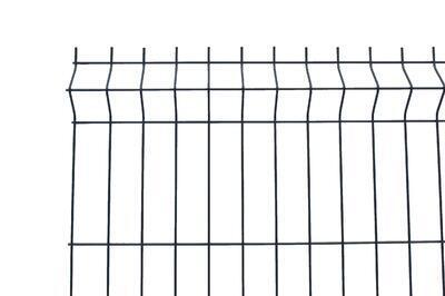 3D plotový dílec, výška 123 cm, šířka 250 cm, antracit, PREMIUM (oko 50x200 mm; drát 5,0 mm) - 1