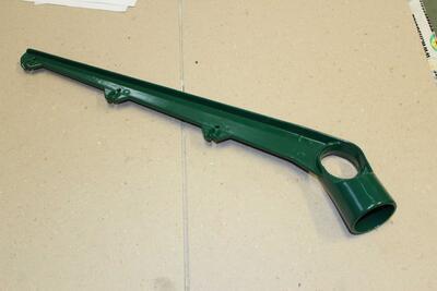 Jednostranný bavolet - držák, 48 mm, poplastovaný PVC, pro uchycení žiletkového drátu nebo ostnatého drátu na plotový sloupek - 1
