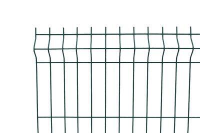 3D plotový dílec, výška 123 cm, šířka 250 cm, zelený, EKONOMIK (oko 50x200 mm; drát 3 mm) - 1