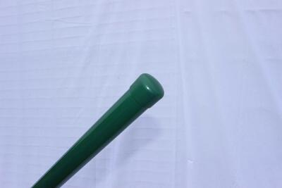 Plotový sloupek, 225 cm, průměr 38 mm, stěna 1,5 mm, zelený, EKONOMIK, pro klasické pletivo - 1