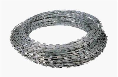 Žiletkový drát, pozink, délka 10 m, průměr 2,0 mm
