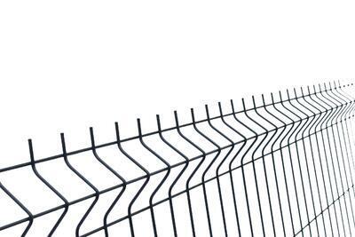3D plotový dílec, výška 123 cm, šířka 250 cm, antracit, PREMIUM (oko 50x200 mm; drát 5,0 mm) - 2