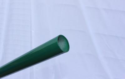 Plotový sloupek, 225 cm, průměr 38 mm, stěna 1,5 mm, zelený, EKONOMIK, pro klasické pletivo - 2