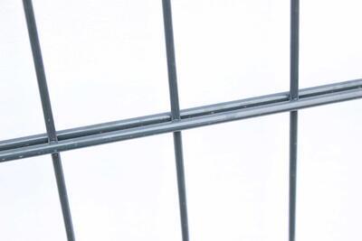 2D plotový dílec, výška 163 cm, šířka 250 cm, antracit, PREMIUM (oko 50x200 mm;drát horizontální 6 mm; drát vertikální 5 mm) - 3