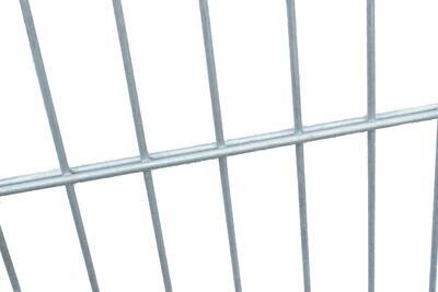 2D plotový dílec, výška 143 cm, šířka 250 cm, pozink, PREMIUM (oko 50x200 mm; drát horizontální 6 mm; drát vertikální 5 mm) - 3