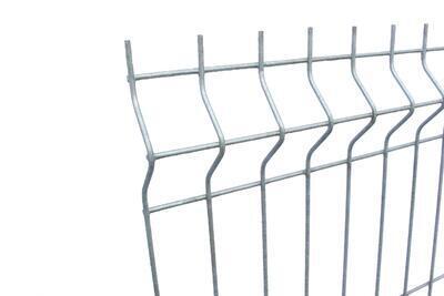 3D plotový dílec, výška 203 cm, šířka 250 cm, pozink, PREMIUM (oko 50x200 mm; drát 5,0 mm) - 3