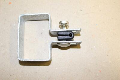 Koncová objímka na sloupek, pozink,  60x40 mm, pro 2D i 3D plotové dílce - 3