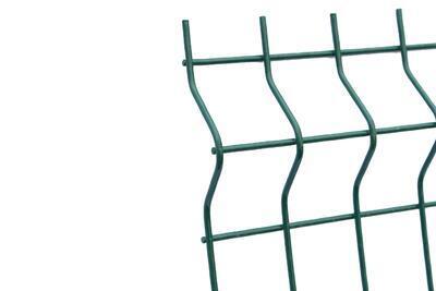 3D plotový dílec, výška 123 cm, šířka 250 cm, zelený, EKONOMIK (oko 50x200 mm; drát 3 mm) - 3