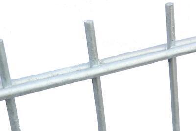 2D plotový dílec, výška 143 cm, šířka 250 cm, pozink, PREMIUM (oko 50x200 mm; drát horizontální 6 mm; drát vertikální 5 mm) - 4