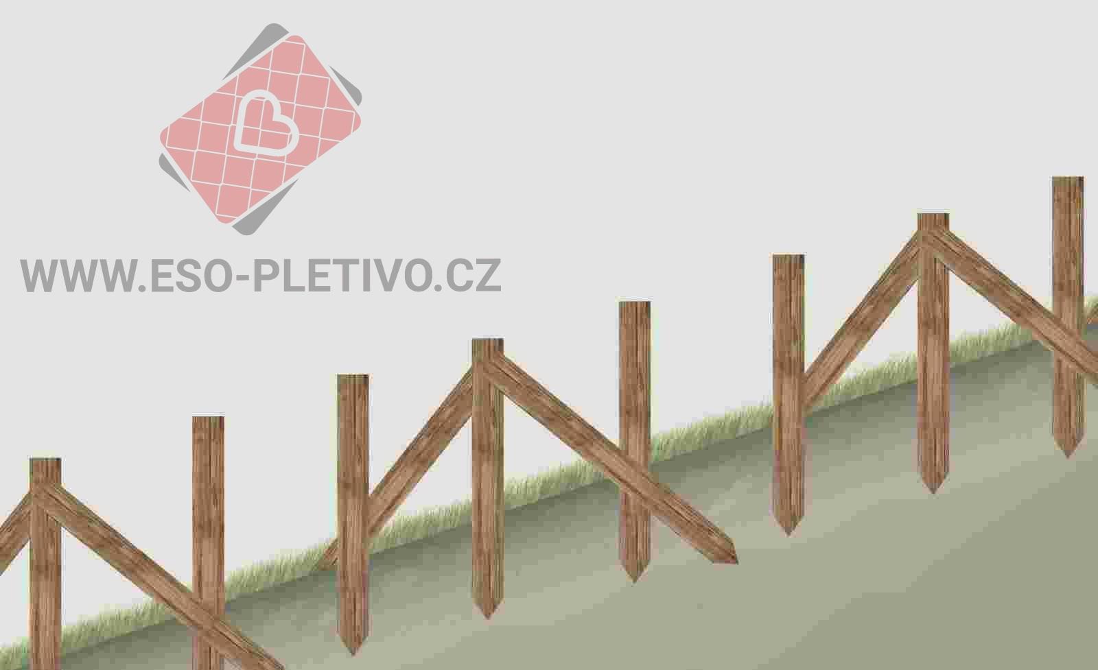 postavení dřevěných kůlů pro stavbu plotu z lesnického pletiva