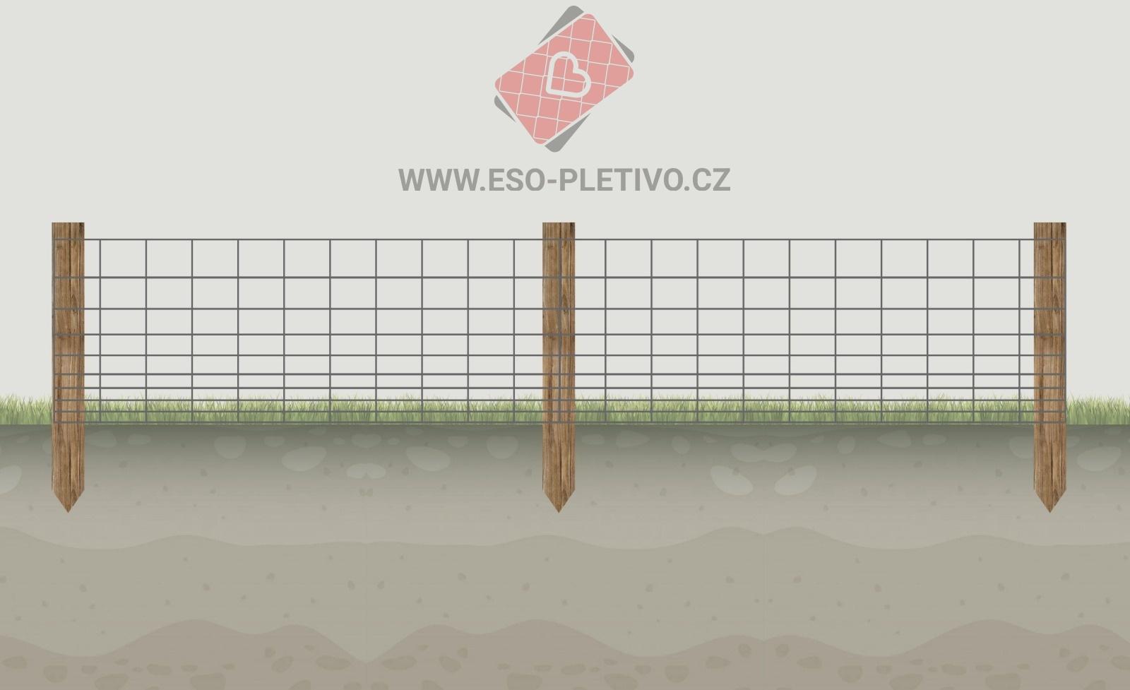 oplocenka - plot z lesnického pletiva