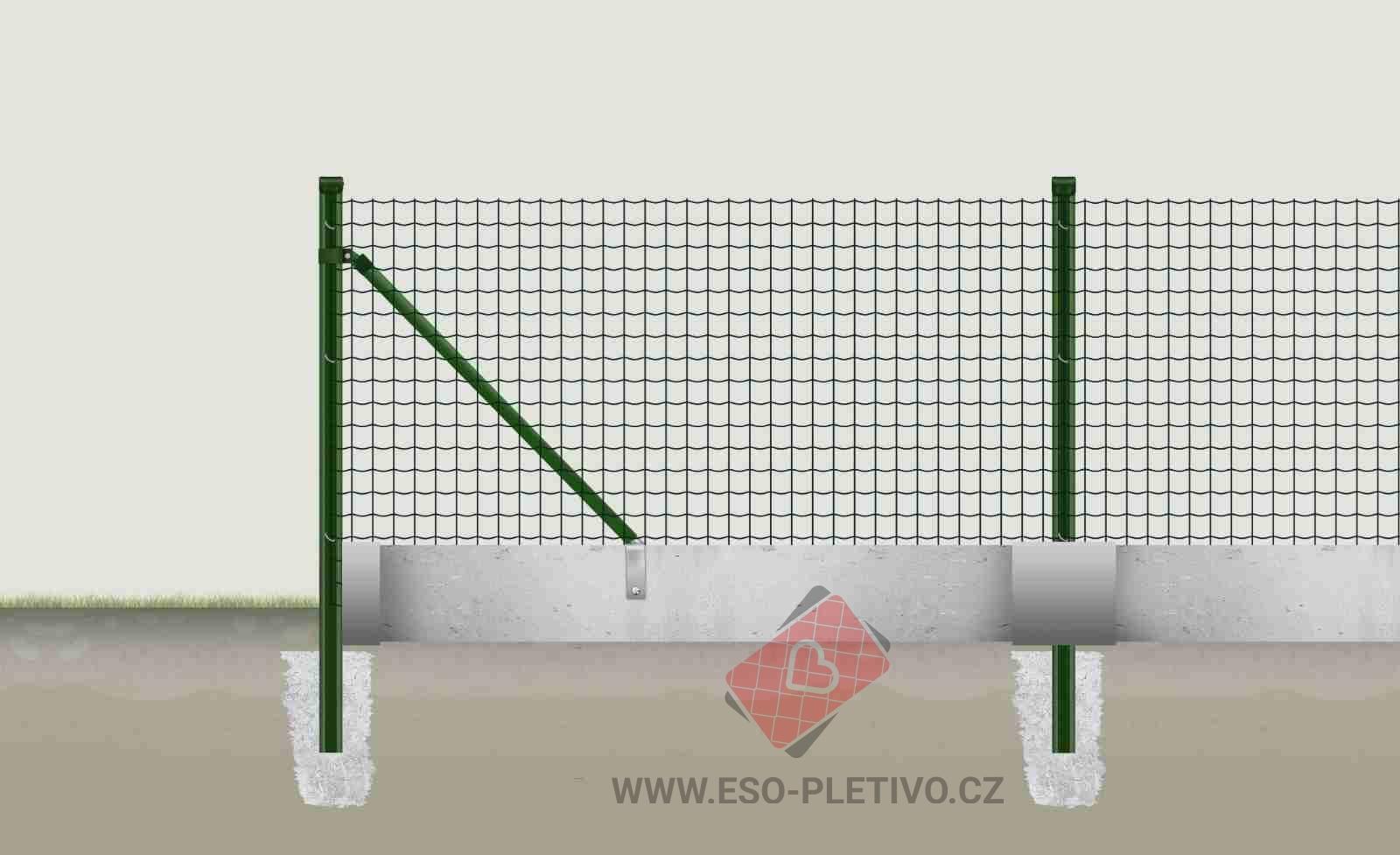 plotové vzpěry pro svařované pletivo