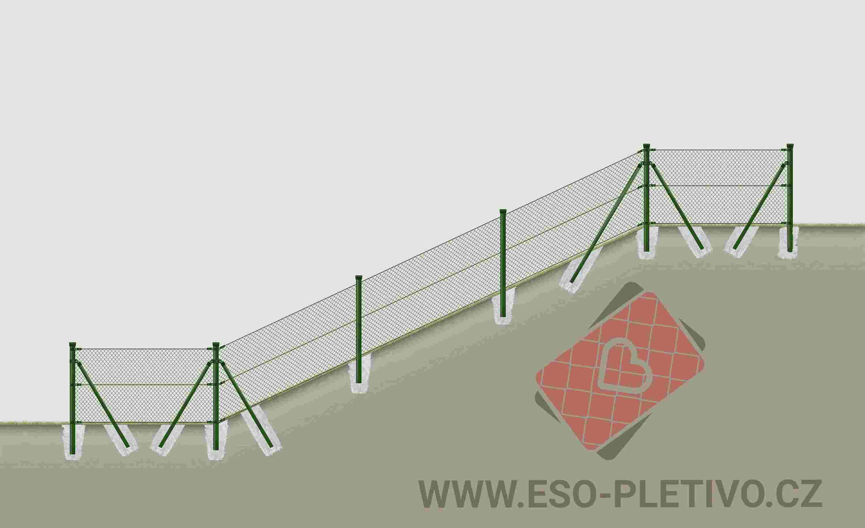 plotové sloupky pro poplastované pletivo