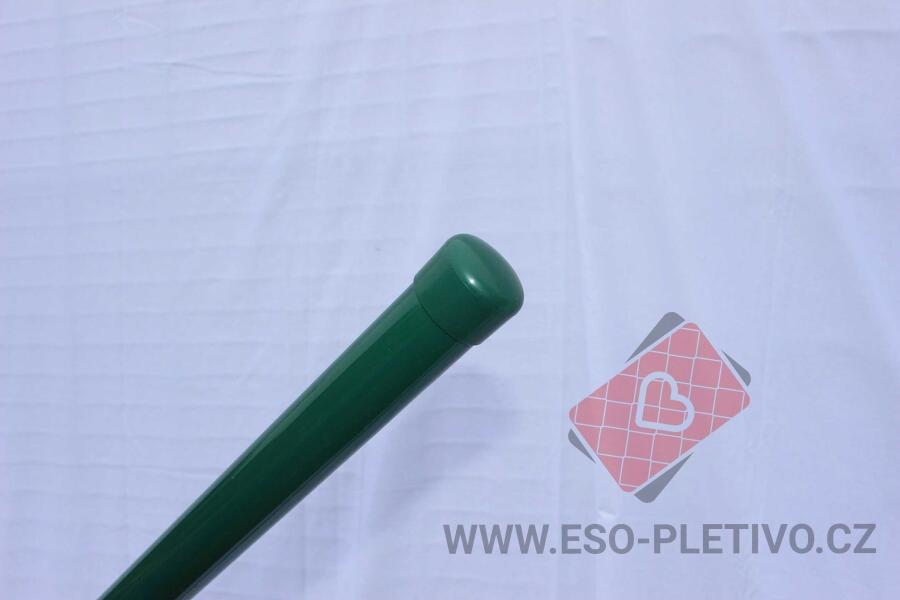 plotové sloupky zelené 38 mm 200 cm