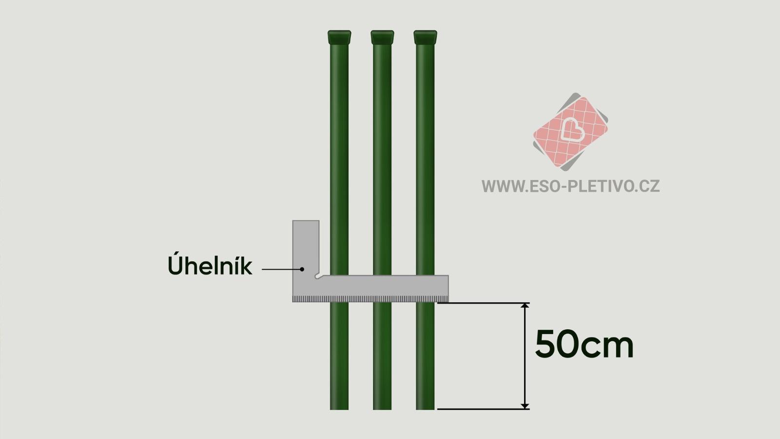 označení plotových sloupků